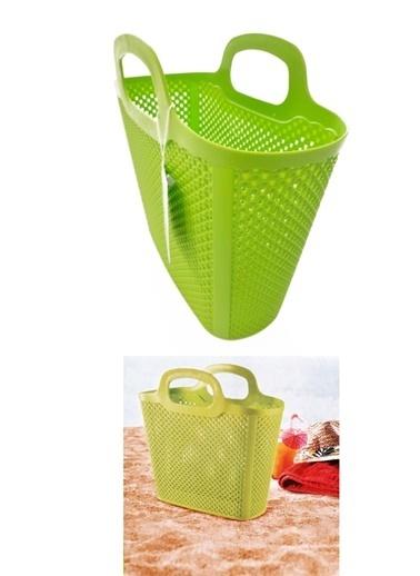 Practika Diamond Çok Amaçlı Plastik Plaj ve Alışveriş Çantası Renkli
